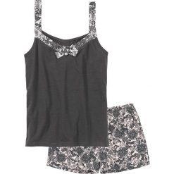 Piżamy damskie: Piżama z krótkimi spodenkami bonprix szaro-jasnoróżowy z nadrukiem