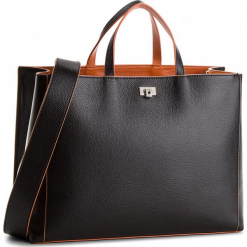 Torebka COCCINELLE - CC7 Tahlia Soft E1 CC7 18 02 01 Noir/Argile 579. Czarne torebki klasyczne damskie Coccinelle, ze skóry. W wyprzedaży za 1189,00 zł.