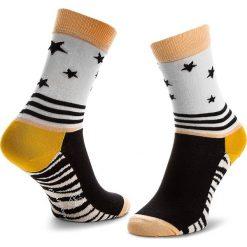 Skarpety Wysokie Damskie HAPPY SOCKS - SFEM01-1000 Kolorowy. Brązowe skarpetki damskie Happy Socks, w kolorowe wzory, z bawełny. Za 39,90 zł.