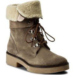Botki GINO ROSSI - Utako DTH625-Y38-R500-3200-F 19. Brązowe buty zimowe damskie Gino Rossi, z materiału, na obcasie. W wyprzedaży za 309,00 zł.