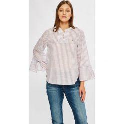 Tommy Jeans - Bluzka. Szare bluzki nietoperze Tommy Jeans, l, z bawełny, casualowe, ze stójką, z krótkim rękawem. W wyprzedaży za 279,90 zł.