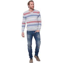 """Swetry klasyczne męskie: Sweter """"Calgary"""" w kolorze szarym"""