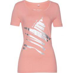 T-shirt z gwiazdą bonprix jasny koralowy - srebrny. Zielone t-shirty damskie marki bonprix, w kropki, z kopertowym dekoltem, kopertowe. Za 24,99 zł.