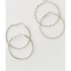 Kolczyki damskie: Kolczyki koła dwie pary – Srebrny