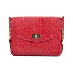 Torebki klasyczne damskie: Skórzana torebka w kolorze czerwonym – (S)21 x (W)27 x (G)10 cm
