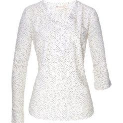 Tunika z nadrukiem bonprix biel wełny - khaki. Białe tuniki damskie z nadrukiem bonprix, z wełny. Za 74,99 zł.