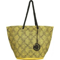 Torebki klasyczne damskie: Torebka w kolorze czarno-żółtym – (S)53 x (W)34 x (G)30 cm