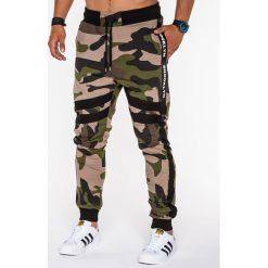 Spodnie męskie: SPODNIE MĘSKIE DRESOWE P545 – ZIELONE