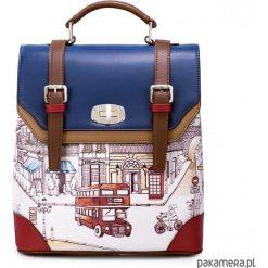 Plecaki damskie: Plecak na ramię z motywem angielskim