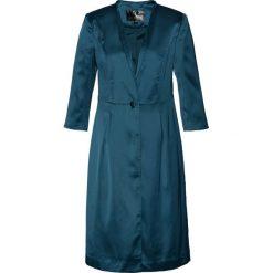 Marynarki i żakiety damskie: Długi żakiet satynowy bonprix niebieskozielony