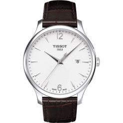PROMOCJA ZEGAREK TISSOT T - CLASSIC T063.610.16.037.00. Białe zegarki męskie TISSOT, ze stali. W wyprzedaży za 1012,00 zł.