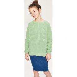 Spódniczki dziewczęce z falbankami: Elastyczna spódnica ołówkowa – Niebieski