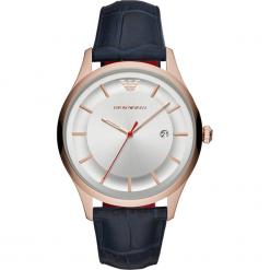 Zegarek EMPORIO ARMANI - Lambda AR11131 Blue/Rose Gold. Niebieskie zegarki męskie marki Emporio Armani. Za 1059,00 zł.