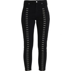 Topshop HOOK EYE JAMIE Jeans Skinny Fit black. Czarne jeansy damskie marki Topshop, z bawełny. W wyprzedaży za 175,45 zł.