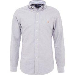 Polo Ralph Lauren OXFORD SLIM FIT Koszula slate/white. Szare koszule męskie slim marki Polo Ralph Lauren, l, z bawełny, button down, z długim rękawem. Za 419,00 zł.