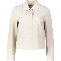 """Bomberki damskie: Skórzana kurtka """"Claudine"""" w kolorze beżowym"""