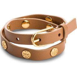 Bransoletka TORY BURCH - Double Wrap Logo Stud Bracelet 11165816 Aged Vachetta/Tory Gold 238. Brązowe bransoletki damskie na nogę Tory Burch. W wyprzedaży za 449,00 zł.