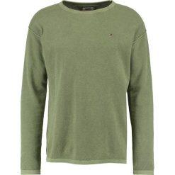Tommy Jeans WAFFLE Sweter deep lichen. Brązowe kardigany męskie Tommy Jeans, l, z bawełny. W wyprzedaży za 359,20 zł.