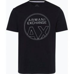 Armani Exchange - T-shirt męski, niebieski. Czarne t-shirty męskie marki Armani Exchange, l, z materiału, z kapturem. Za 249,95 zł.