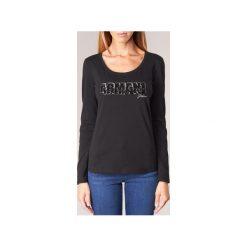 T-shirty z długim rękawem Armani jeans  DRANAZ. Czarne t-shirty damskie marki Armani Jeans, z jeansu. Za 343,20 zł.
