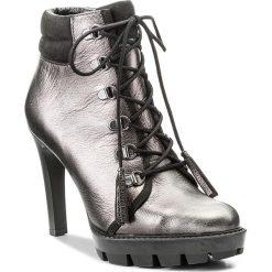 Botki CARINII - B4034  K45-360-PSK-A14. Szare buty zimowe damskie Carinii, z materiału, na obcasie. W wyprzedaży za 299,00 zł.