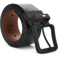 Pasek Męski TOMMY JEANS - Tjm Reversible Belt 4.0 AM0AM04277 903. Czarne paski męskie marki Tommy Jeans, w paski, z jeansu. Za 279,00 zł.