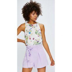 Answear - Top Violet Kiss. Szare topy damskie ANSWEAR, l, z tkaniny, z okrągłym kołnierzem. W wyprzedaży za 79,90 zł.