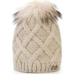 Czapka damska 87-HF-020-0. Szare czapki zimowe damskie Wittchen, na zimę, z dzianiny. Za 139,00 zł.