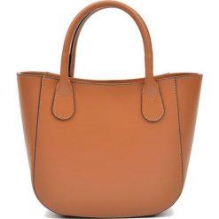 Torebki i plecaki damskie: Skórzana torebka w kolorze jasnobrązowym – (S)20,5 x (W)29 x (G)9 cm