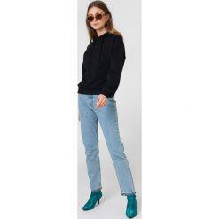 Bluzy rozpinane damskie: NA-KD Urban Bluza z kapturem ze szwem NA-KD - Black