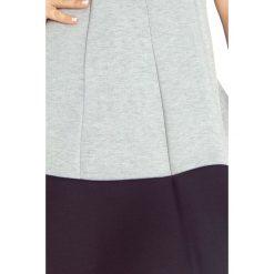 Amanda Sukienka z czarnam pasem na dole - pianka - JASNO SZARA melanż +. Różowe sukienki marki numoco, l, z długim rękawem, maxi, oversize. Za 149,99 zł.