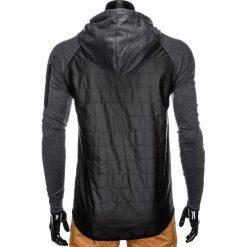 KURTKA MĘSKA PRZEJŚCIOWA C340 - CZARNA. Zielone kurtki męskie przejściowe marki Ombre Clothing, na zimę, m, z bawełny, z kapturem. Za 79,00 zł.