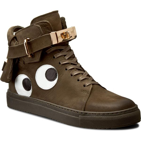 957c37073e68 Sneakersy CARINII - B3770 O I43-000-PSK-B67 - Zielone półbuty damskie  Carinii