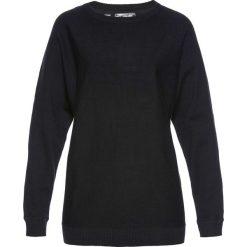 Sweter z rękawami typu nietoperz bonprix czarny. Czarne swetry klasyczne damskie bonprix. Za 74,99 zł.