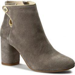 Botki EVA MINGE - Isabell 1E 17SM1372124ES 249. Szare buty zimowe damskie Eva Minge, ze skóry, eleganckie. W wyprzedaży za 259,00 zł.