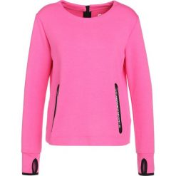 Bluzy damskie: Superdry SPORT GYM TECH LUXE CREW Bluza vibe pink