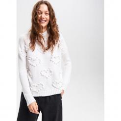 Sweter ze stójką - Biały. Białe golfy damskie Reserved, l. Za 119,99 zł.