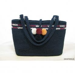 Torba na ramię. Czarne torebki klasyczne damskie Pakamera, z bawełny. Za 799,00 zł.