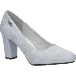 Szare czółenka na słupku Sergio Leone PB234-03X. Czarne buty ślubne damskie marki Sergio Leone. Za 88,99 zł.
