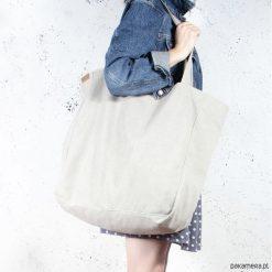 Big Lazy bag torba beżowa na zamek / vegan / eco. Brązowe torebki klasyczne damskie Pakamera, w paski. Za 185,00 zł.