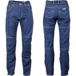 Jeansy męskie regular: W-TEC Męskie jeansy motocyklowe z kevlarem W-TEC NF-2930 Kolor Niebieski, Rozmiar M - 13557-M