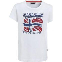 Napapijri SOLEX Tshirt z nadrukiem bright white. Szare t-shirty chłopięce z nadrukiem marki Napapijri, l, z materiału, z kapturem. Za 149,00 zł.