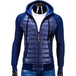 Bluzy męskie: BLUZA MĘSKA ROZPINANA Z KAPTUREM B578 – GRANATOWA