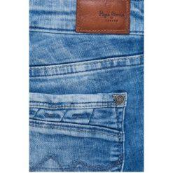 Pepe Jeans - Jeansy Ripple. Różowe jeansy damskie marki Pepe Jeans, z gumy, na sznurówki. W wyprzedaży za 219,90 zł.