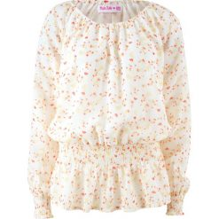 Bluzki damskie: Bluzka z odsłoniętymi ramionami, długi rękaw, z kolekcji Maite Kelly bonprix biel wełny w kwiaty