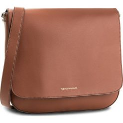 Torebka EMPORIO ARMANI - Messenger Bag Y3B081 YH23A 80009 Cuoio. Szare torebki klasyczne damskie marki Emporio Armani, l, z nadrukiem, z bawełny, z okrągłym kołnierzem. W wyprzedaży za 589,00 zł.