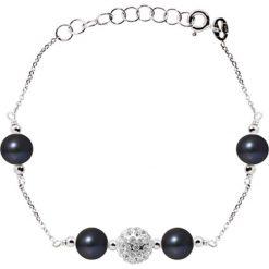 Naszyjniki damskie: Srebrny naszyjnik z perłami słodkowodnymi
