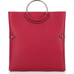 Torebka damska 87-4E-442-2. Czerwone torebki klasyczne damskie marki Wittchen, w geometryczne wzory. Za 499,00 zł.