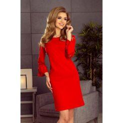 Haven sukienka z koronką na rękawkach - CZERWONA. Różowe sukienki koronkowe marki numoco, l, z długim rękawem, maxi, oversize. Za 139,99 zł.