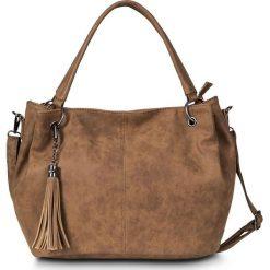 """Shopper bag damskie: Torba shopper """"casual"""", medium bonprix wielbłądzia wełna"""
